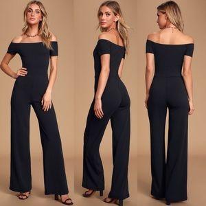 | Lulu's | NWT black off-the-shoulder jumpsuit